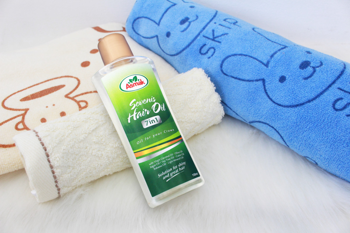 asmak baby care sevenis hair oil