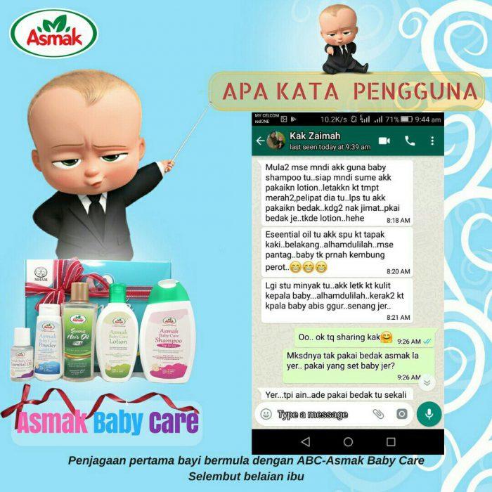 Testimoni Pengguna Asmak Baby Care